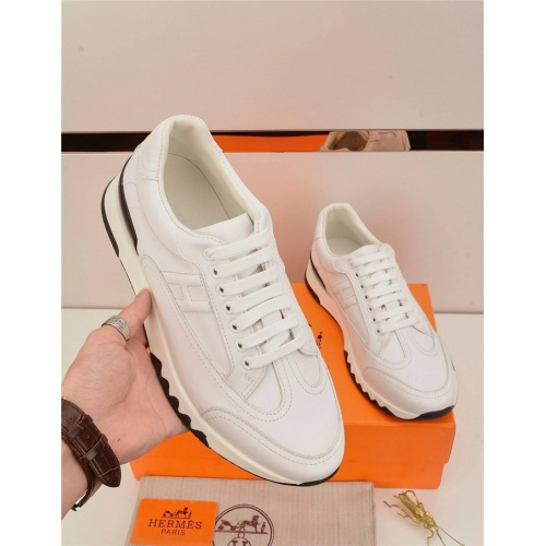 Replica Hermes Casual Shoes For Men #821696 $88.00 USD for Wholesale