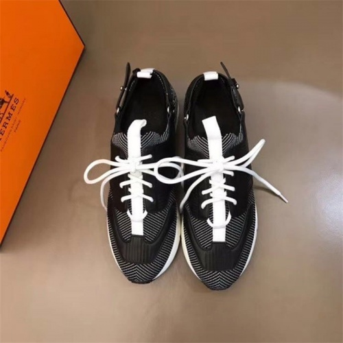 Replica Hermes Casual Shoes For Men #821718 $88.00 USD for Wholesale