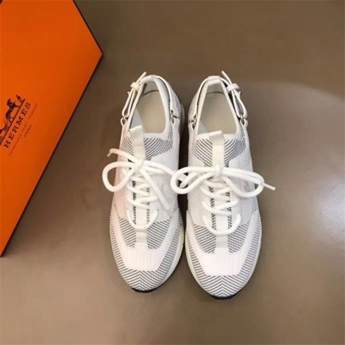 Replica Hermes Casual Shoes For Men #821719 $88.00 USD for Wholesale