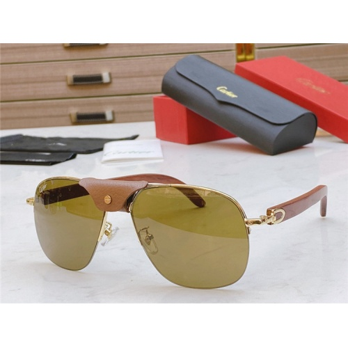 Cartier AAA Quality Sunglasses #821833