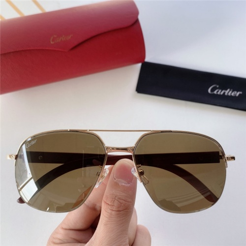 Cartier AAA Quality Sunglasses #821862