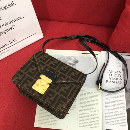 Fendi AAA Messenger Bags For Women #822029 $100.00 USD, Wholesale Replica Fendi AAA Messenger Bags