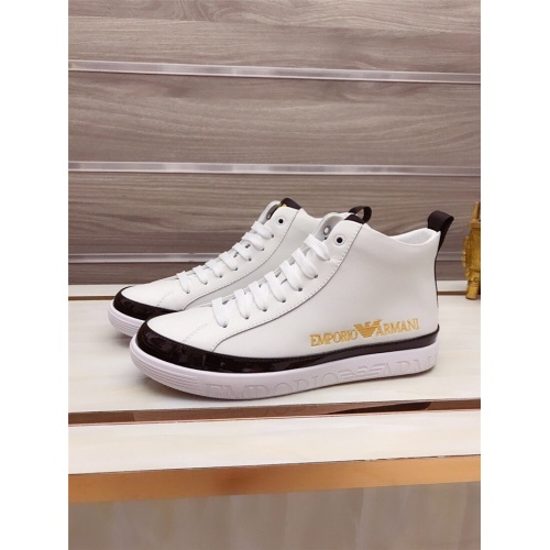 Armani High Tops Shoes For Men #822066