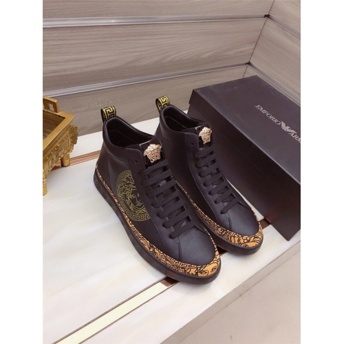 Versace High Tops Shoes For Men #822075
