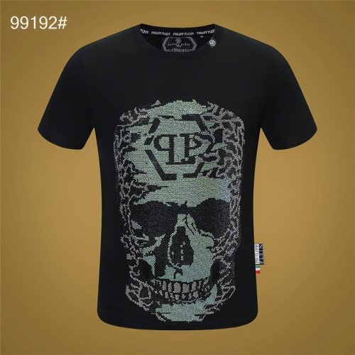Philipp Plein PP T-Shirts Short Sleeved O-Neck For Men #822158 $28.00 USD, Wholesale Replica Philipp Plein PP T-Shirts