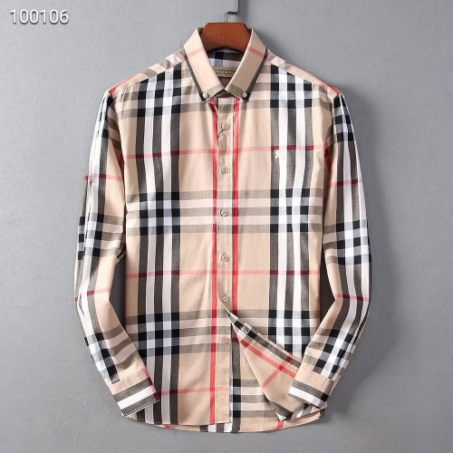 Burberry Shirts Long Sleeved Polo For Men #822454