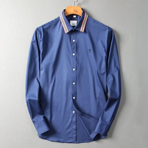 Burberry Shirts Long Sleeved Polo For Men #822458 $42.00, Wholesale Replica Burberry Shirts