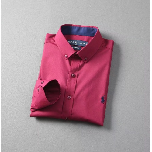 Replica Ralph Lauren Polo Shirts Long Sleeved Polo For Men #822462 $40.00 USD for Wholesale