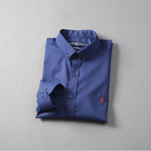 Replica Ralph Lauren Polo Shirts Long Sleeved Polo For Men #822465 $40.00 USD for Wholesale