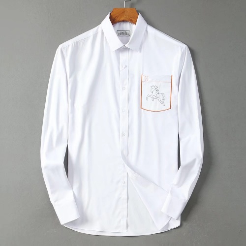 Hermes Shirts Long Sleeved Polo For Men #822469 $42.00 USD, Wholesale Replica Hermes Shirts
