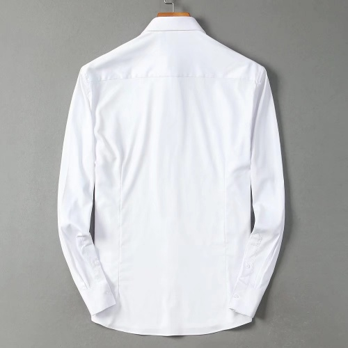 Replica Hermes Shirts Long Sleeved Polo For Men #822469 $42.00 USD for Wholesale