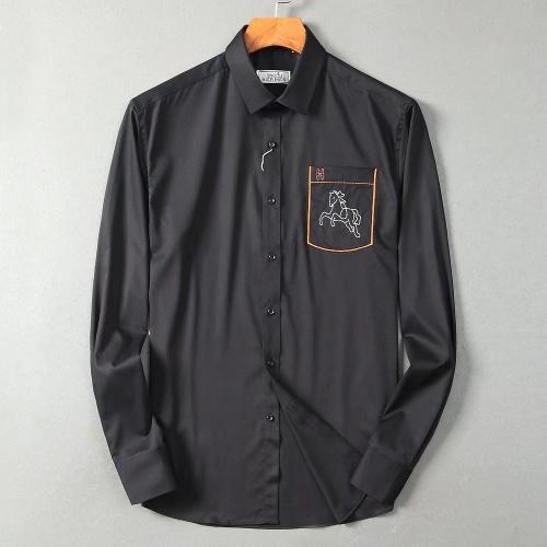 Hermes Shirts Long Sleeved Polo For Men #822470