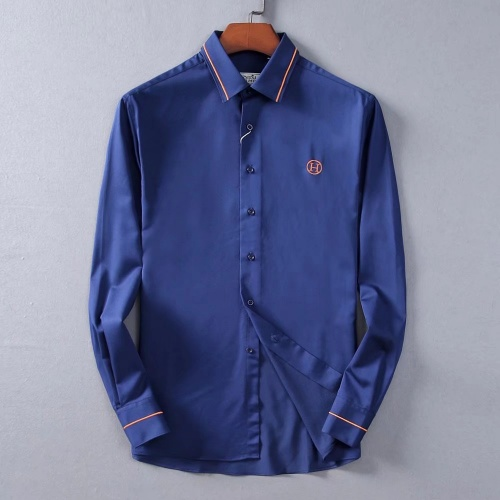 Hermes Shirts Long Sleeved Polo For Men #822471