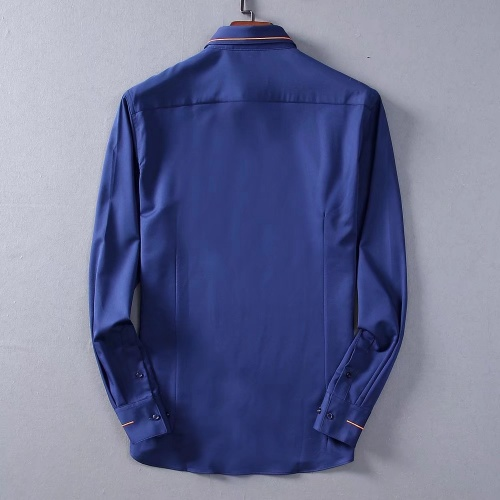 Replica Hermes Shirts Long Sleeved Polo For Men #822471 $42.00 USD for Wholesale