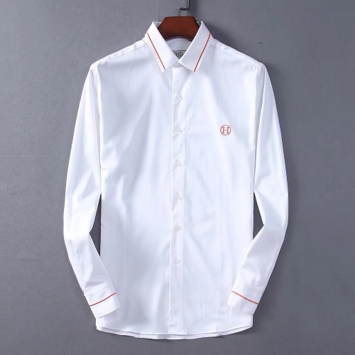 Hermes Shirts Long Sleeved Polo For Men #822472 $42.00 USD, Wholesale Replica Hermes Shirts