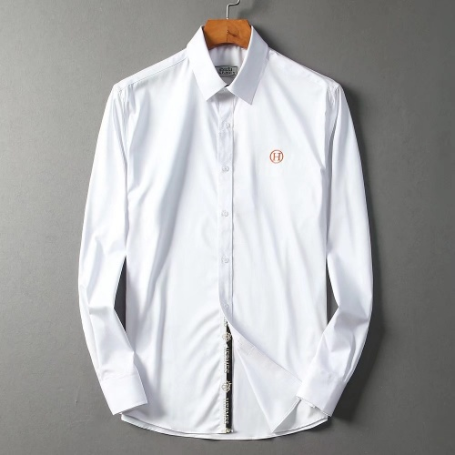 Hermes Shirts Long Sleeved Polo For Men #822474 $42.00 USD, Wholesale Replica Hermes Shirts