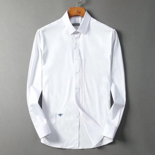 Christian Dior Shirts Long Sleeved Polo For Men #822476