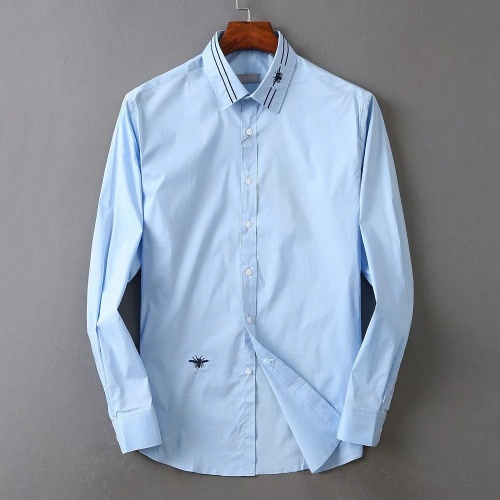 Christian Dior Shirts Long Sleeved Polo For Men #822479