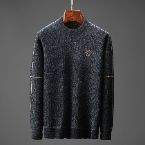 Versace Sweaters Long Sleeved O-Neck For Men #822504 $48.00, Wholesale Replica Versace Sweaters