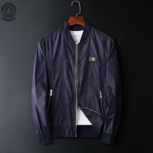 Versace Jackets Long Sleeved Zipper For Men #822566