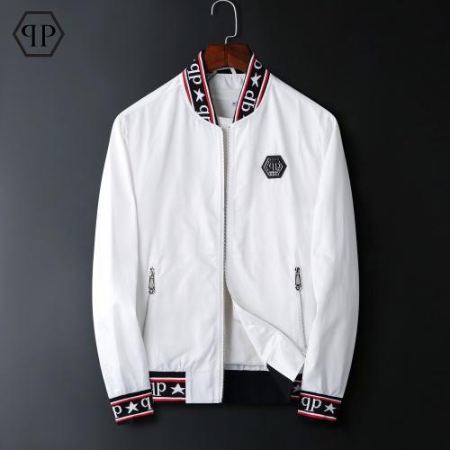 Philipp Plein PP Jackets Long Sleeved Zipper For Men #822569 $72.00, Wholesale Replica Philipp Plein PP Jackets