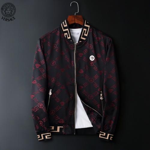 Versace Jackets Long Sleeved Zipper For Men #822573