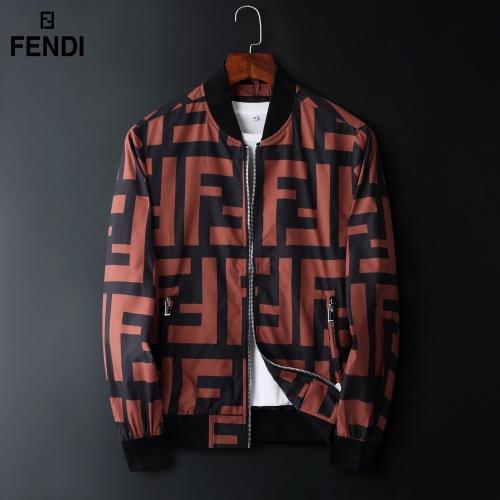 Fendi Jackets Long Sleeved Zipper For Men #822574