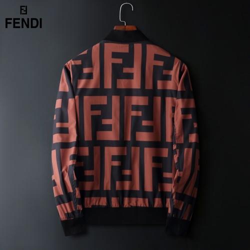 Replica Fendi Jackets Long Sleeved Zipper For Men #822574 $72.00 USD for Wholesale