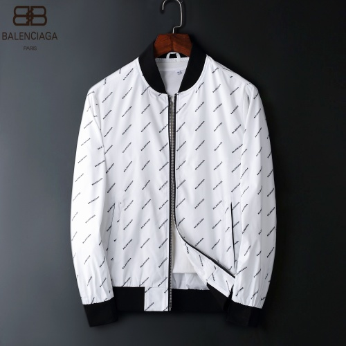Balenciaga Jackets Long Sleeved Zipper For Men #822576