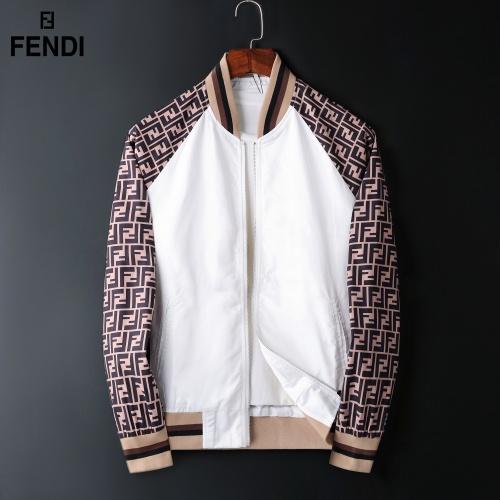 Fendi Jackets Long Sleeved Zipper For Men #822579