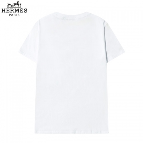Replica Hermes T-Shirts Short Sleeved O-Neck For Men #822848 $29.00 USD for Wholesale