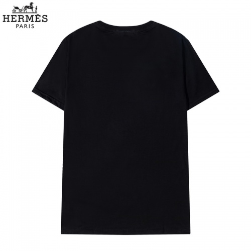 Replica Hermes T-Shirts Short Sleeved O-Neck For Men #822849 $29.00 USD for Wholesale