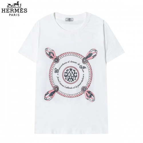Hermes T-Shirts Short Sleeved O-Neck For Men #822860 $29.00 USD, Wholesale Replica Hermes T-Shirts