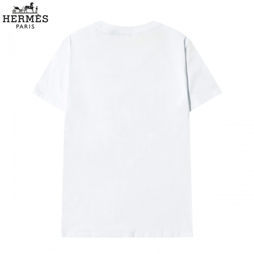 Replica Hermes T-Shirts Short Sleeved O-Neck For Men #822860 $29.00 USD for Wholesale