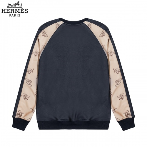 Replica Hermes Hoodies Long Sleeved O-Neck For Men #822890 $40.00 USD for Wholesale