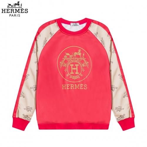 Hermes Hoodies Long Sleeved O-Neck For Men #822892 $40.00 USD, Wholesale Replica Hermes Hoodies