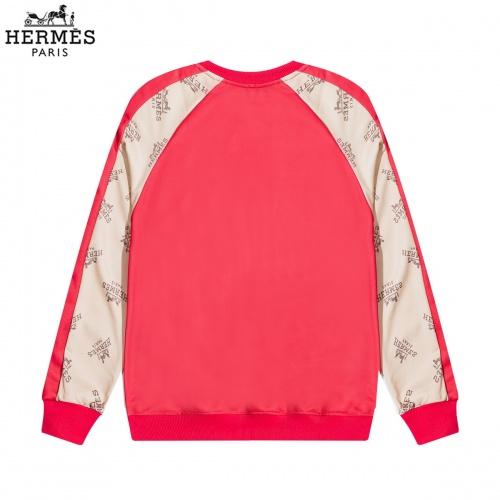 Replica Hermes Hoodies Long Sleeved O-Neck For Men #822892 $40.00 USD for Wholesale