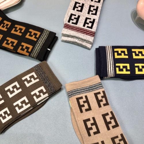 Replica Fendi Socks #823066 $30.00 USD for Wholesale