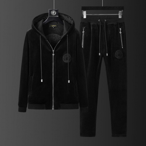 Replica Versace Tracksuits Long Sleeved Zipper For Men #823235 $98.00 USD for Wholesale