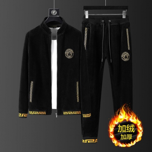 Versace Tracksuits Long Sleeved Zipper For Men #823237
