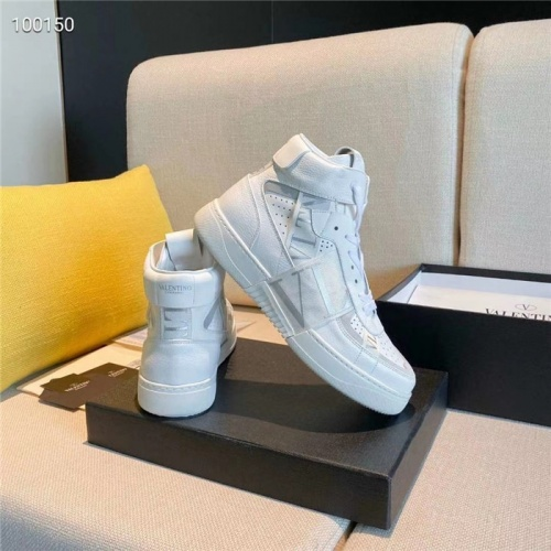 Replica Valentino High Tops Shoes For Men #823335 $118.00 USD for Wholesale