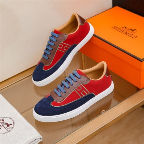 Replica Hermes Casual Shoes For Men #823406 $68.00 USD for Wholesale