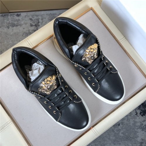 Replica Versace High Tops Shoes For Men #823447 $80.00 USD for Wholesale
