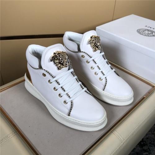 Versace High Tops Shoes For Men #823448 $80.00 USD, Wholesale Replica Versace High Tops Shoes