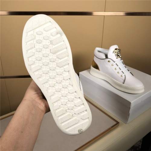 Replica Versace High Tops Shoes For Men #823448 $80.00 USD for Wholesale