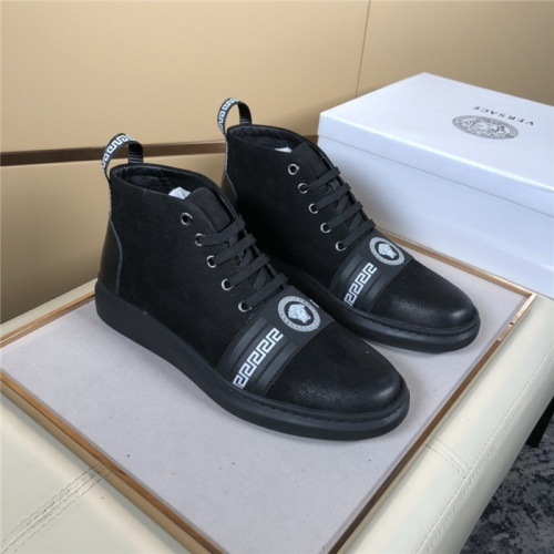 Versace High Tops Shoes For Men #823449