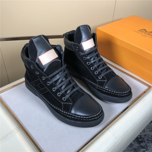 Hermes High Tops Shoes For Men #823473 $80.00 USD, Wholesale Replica Hermes Casual Shoes