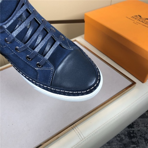 Replica Hermes High Tops Shoes For Men #823474 $80.00 USD for Wholesale