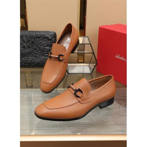 Ferragamo Salvatore FS Leather Shoes For Men #823511
