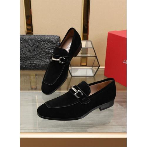 Ferragamo Salvatore FS Leather Shoes For Men #823516